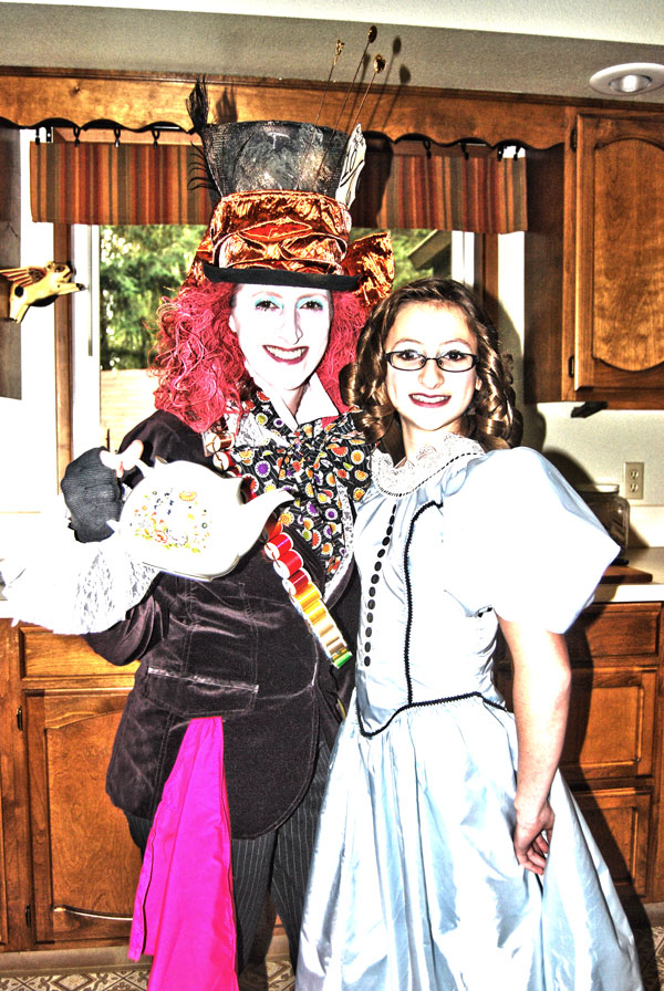 The Hatter, and sweet little Alice