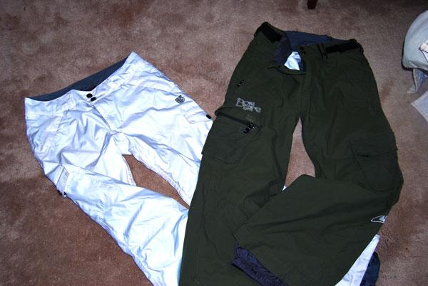 Snowboarding pants