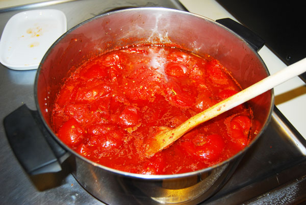 Simmering Tomatoes