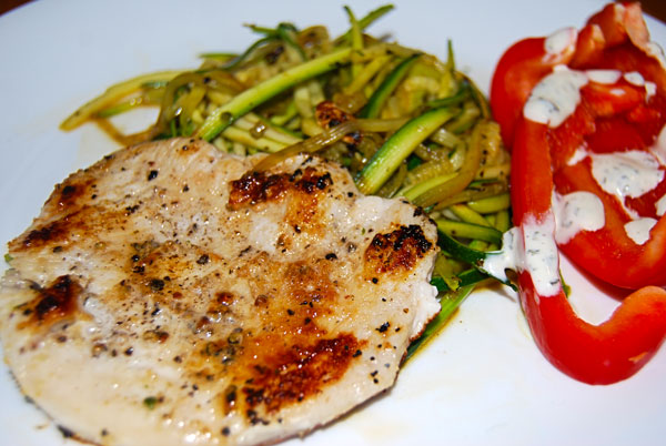 Turkey Cutlet with Zuchinni