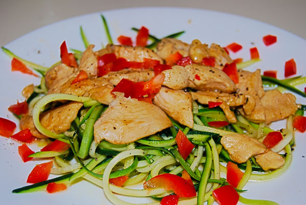 Chicken Teryaki with Zucchini noodles