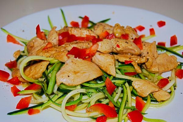 Chicken Teryaki with Zucchini noodles