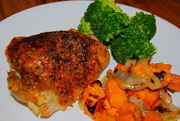 Roast Chicken and Sweet Potatoes