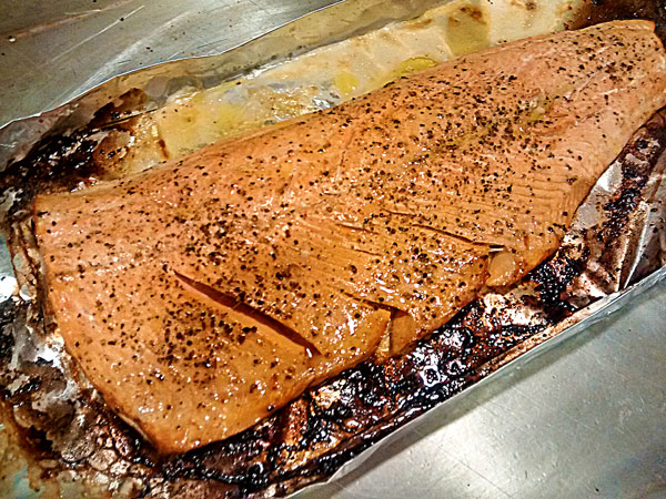 how to cook a piece of salmon in the microwave